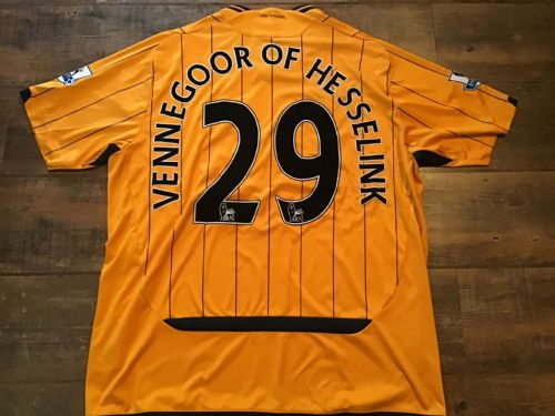 2009 2010 Hull City Vennegoor of Hesselink Home Football Shirt 2XL